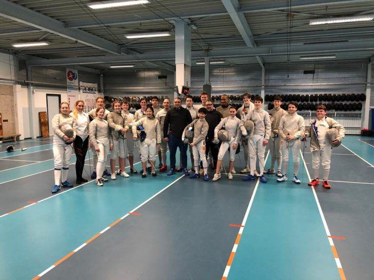 deelnemers schermtraining Arnhem